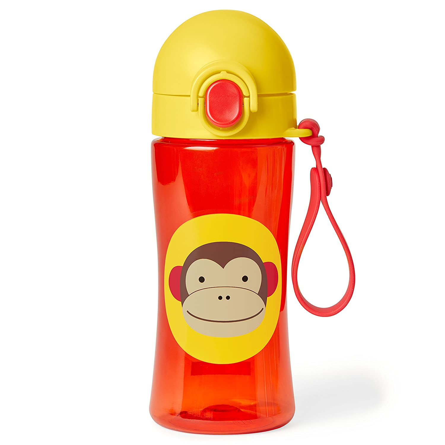 Skip Hop Zoo Lock-Top Sports Bottle - Monkey, Brown 252626