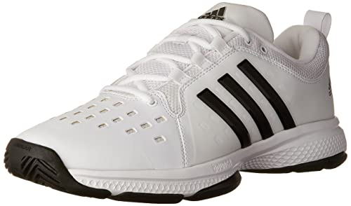 adidas Performance Men's Barricade Classic Bounce Tennis Shoe, White/Black/White, 6.5 M US