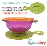 Stay Put Suction Baby Bowls - Suction Toddler Spill Proof Feeding Set | Bonus Spoon and Fork | 3 Sizes of Bowls and Snap Tight Lids | Perfect to Go Storage | FDA Approved BPA Free