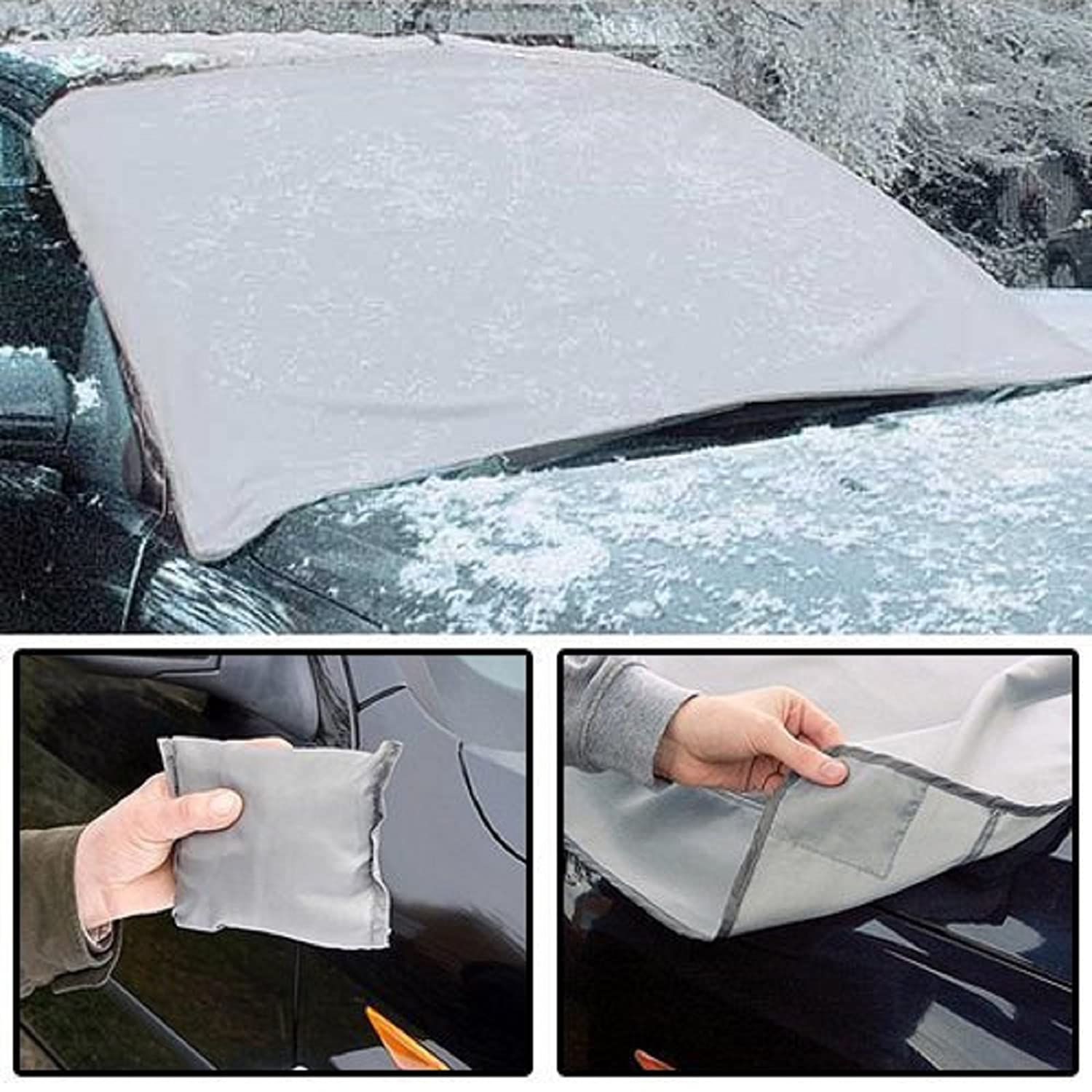 Ram MAGNETIC CAR WINDSCREEN ANTI-FROST ICE FROST SHIELD SNOW COVER DUST PROTECTOR WITH ICE SCRAPPER dg