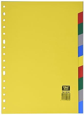 Definiclas 095760 - Separador de polipropileno, 10 posiciones: Amazon.es: Oficina y papelería