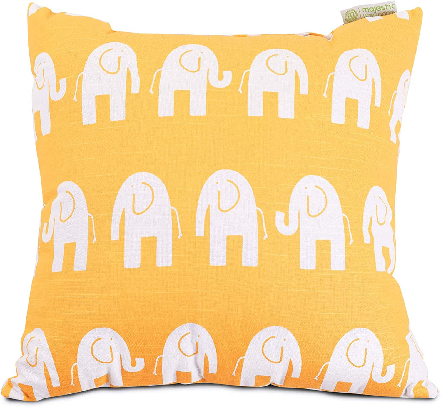 "Majestic Home Goods Yellow Ellie Indoor Large Pillow 20"" L x 8"" W x 20"" H"