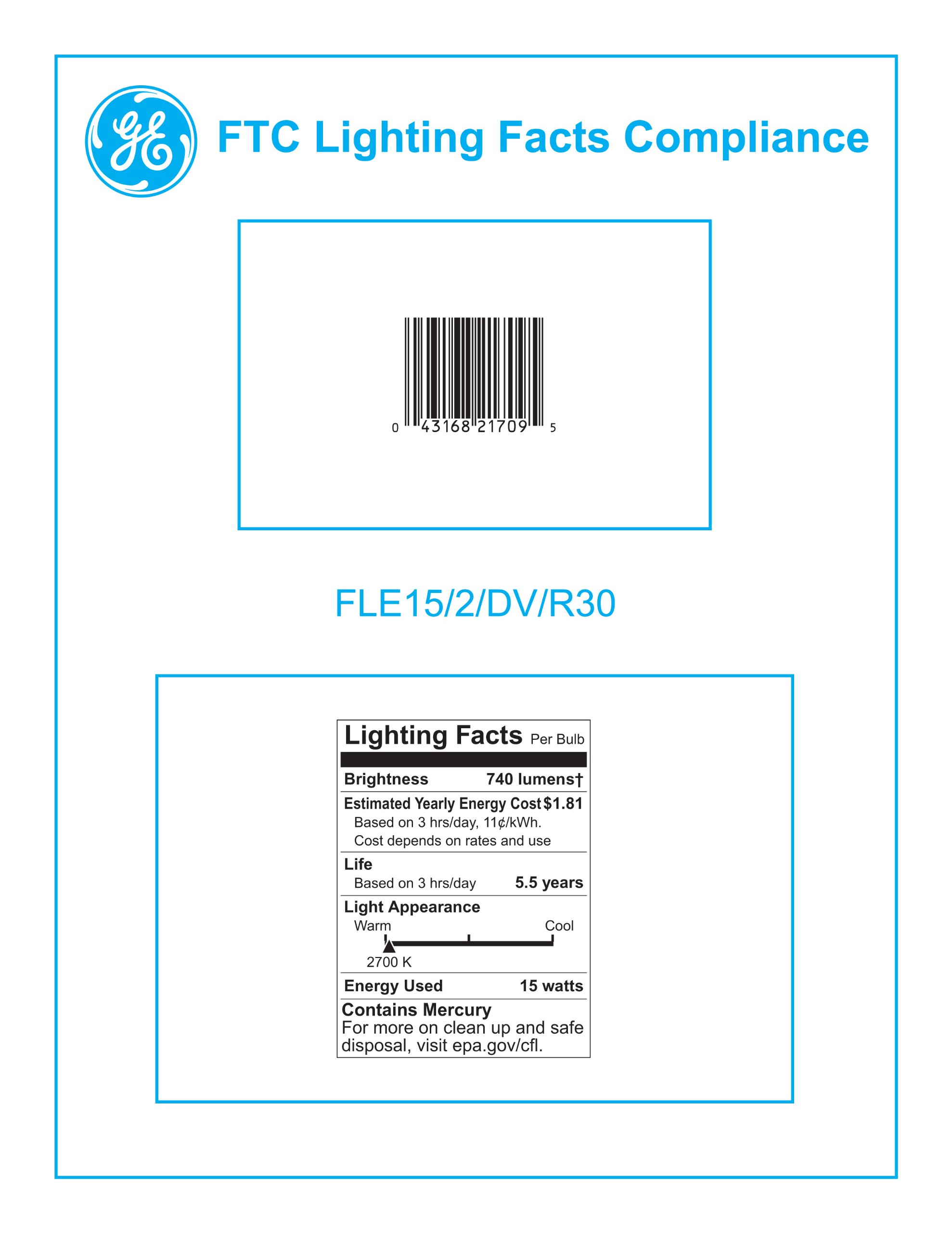 GE 21709 Energy Smart 15 Watt R30 Dimmable CFL Floodlight by GE (Image #2)