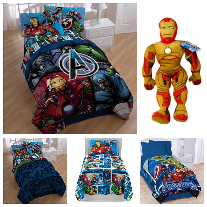 in twin marvel avengers bedding a bed bonus comforter ip tote com walmart piece bag set with