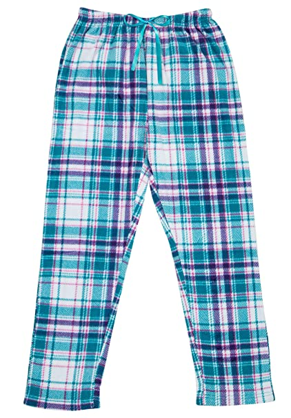 a8646e5b6ca North 15 Women s Super Cozy Plaid Minky Fleece Pajama Bottom Lounge Pants -L1527-Design7