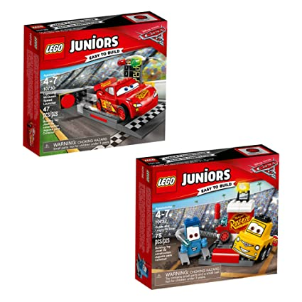 LEGO Juniors Disney Cars 66573 Building Kit Bundle 122 Piece