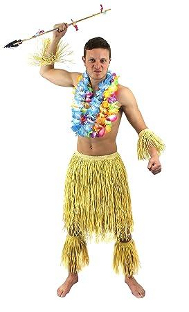Disfraz de zulu Natural Hula hawaiano falda de todo el mundo ...