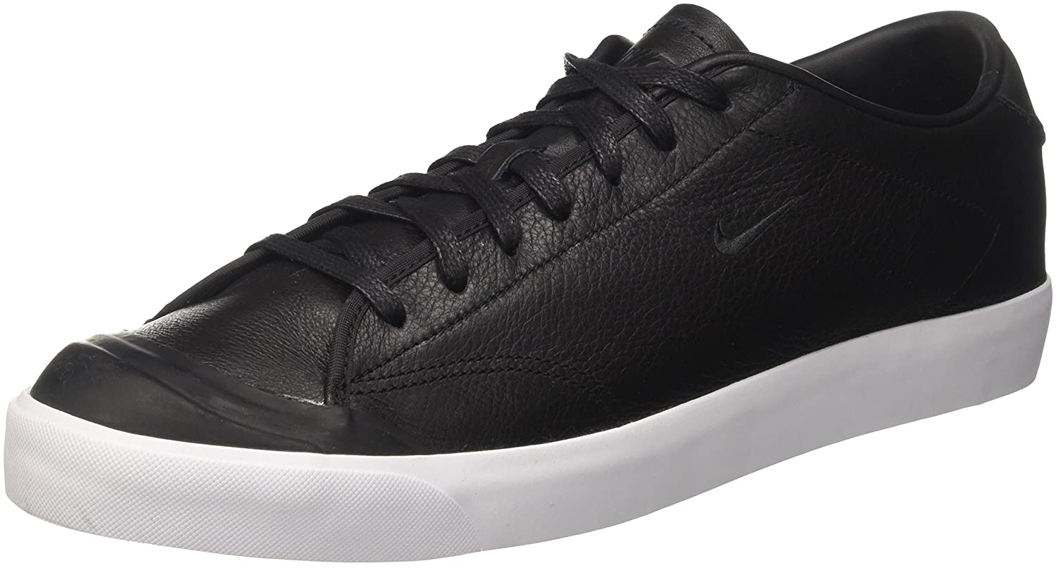 Nike Herren All Court 2 Low Leather Sneaker  385 EU|Schwarz (Black-white)