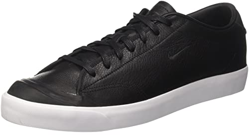 Nike Men's All Court 2 Low Leather Trainers, Black (Black/Black White)
