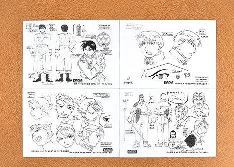210 x 297mm Full Metal Alchemist Anime Home Decor Canvas Print A4 size