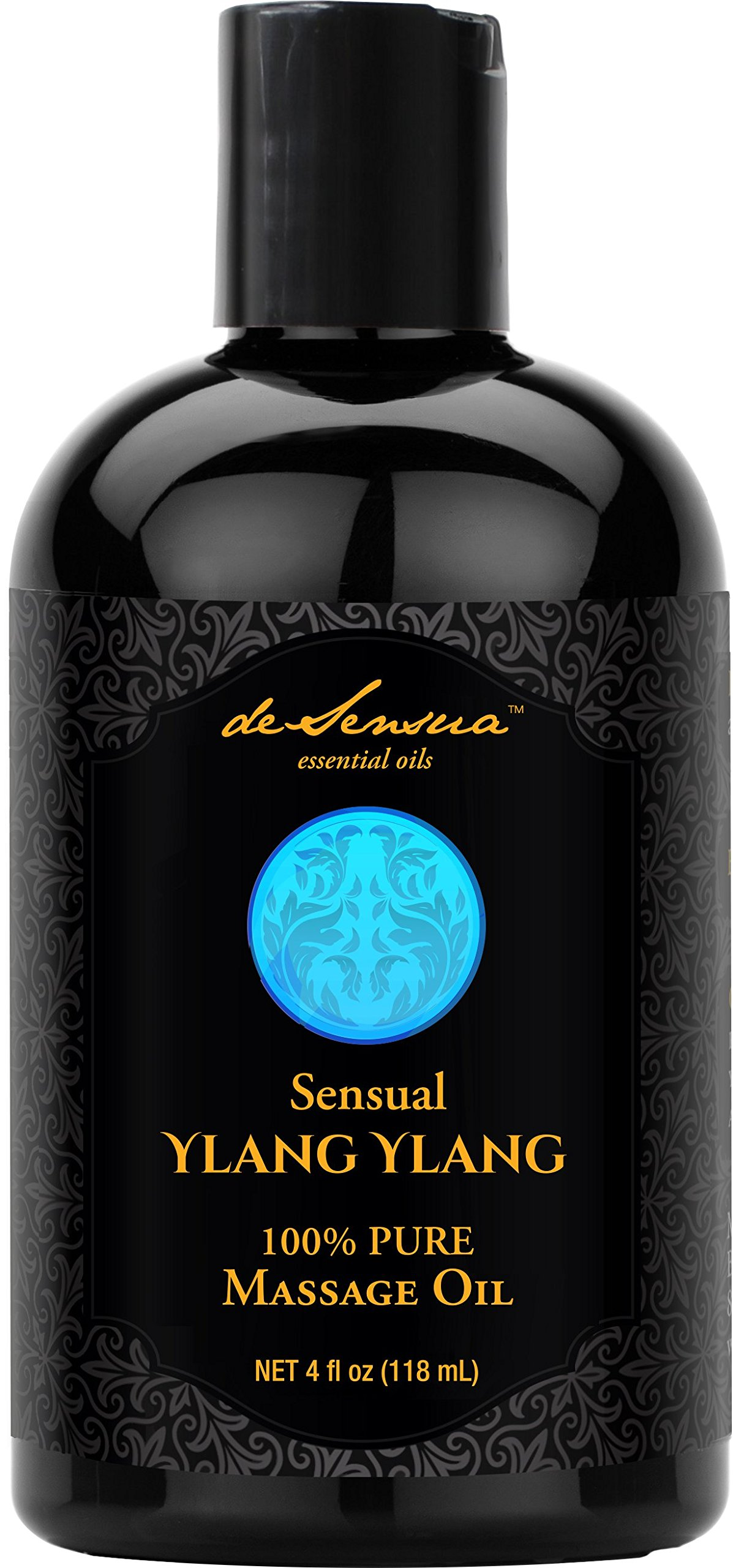 Sensual Ylang Ylang Massage Essential Oils by deSensua – Hydrating and Relaxing Aromatherapy – Soft Glide Helps Relieve Sore Muscles with Deep Tissue Pressure – Natural, Calming Scent