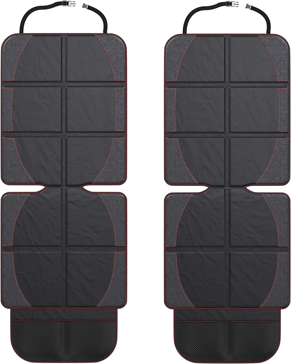 FORTEM Car Seat Protector, Durable Waterproof Backseat Cover for Baby, Protects Against Damage (2 Pack)