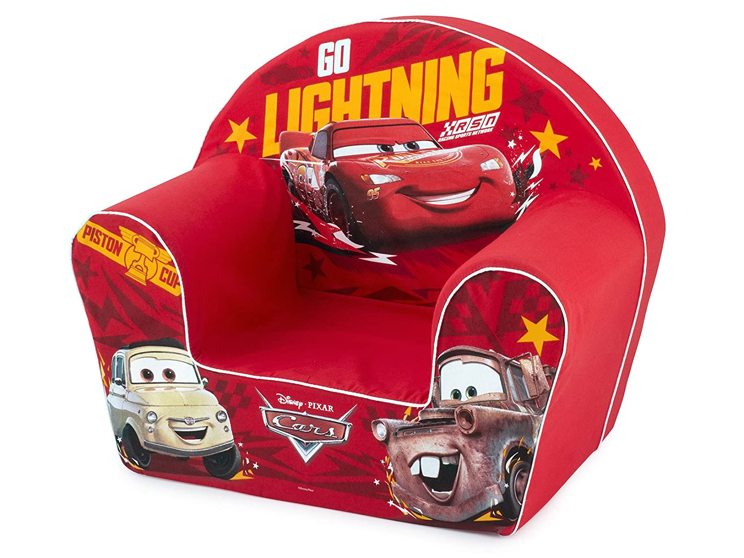 Lulabi – Disney Cars Sessel, weich, Rot, 18 + Monate, Farbe, 719349