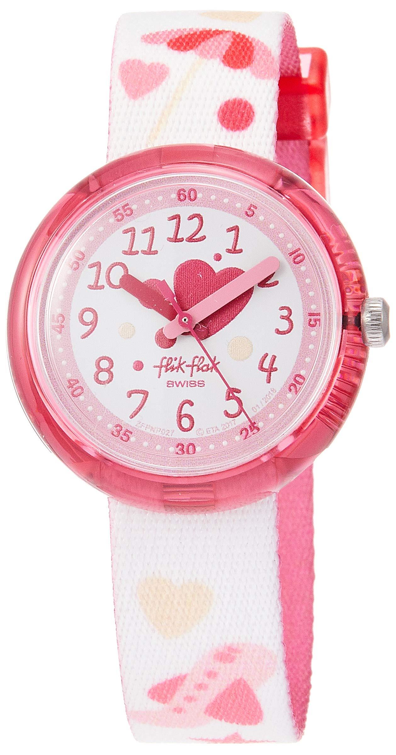 Flik Flak Kids' Quartz Nylon Strap, Pink, 14 Casual Watch (Model: ZFPNP027) by Flik Flak