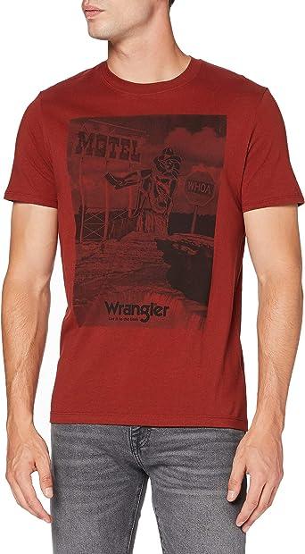 TALLA XXL. Wrangler SS Motel tee Camiseta para Hombre