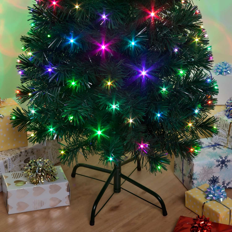 Snowtime Pre-Lit Colour Changing Snowbright Christmas Tree 2.1m ...