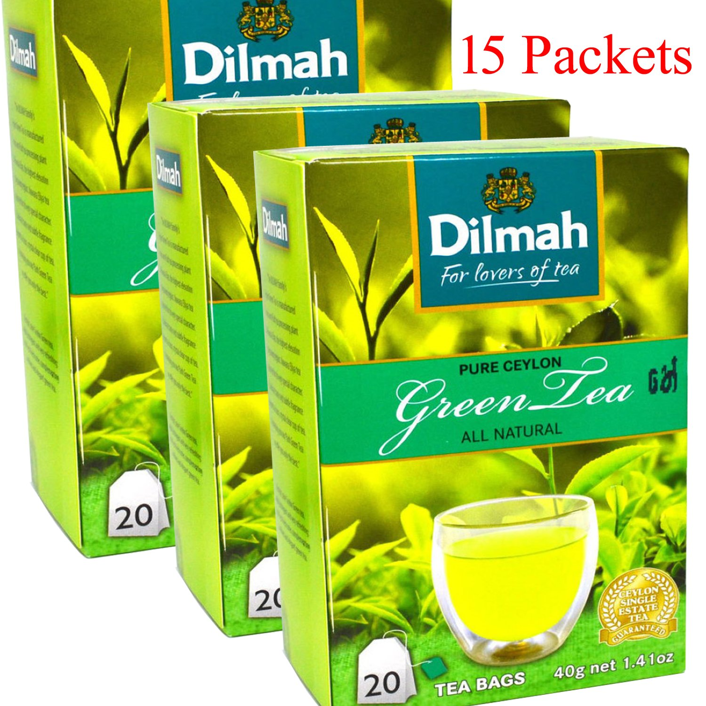 Amazon Com Mohanstores Ceylon 100 Pure Sri Lankan Dilmah Green Tea 300 Tea Bags Grocery Gourmet Food