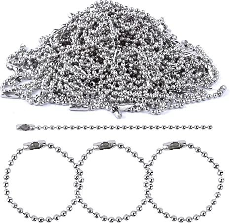 10 x 10cm Ball Chain /& Connector Bronze For Scrapbooking Key Chains /& Jewellery