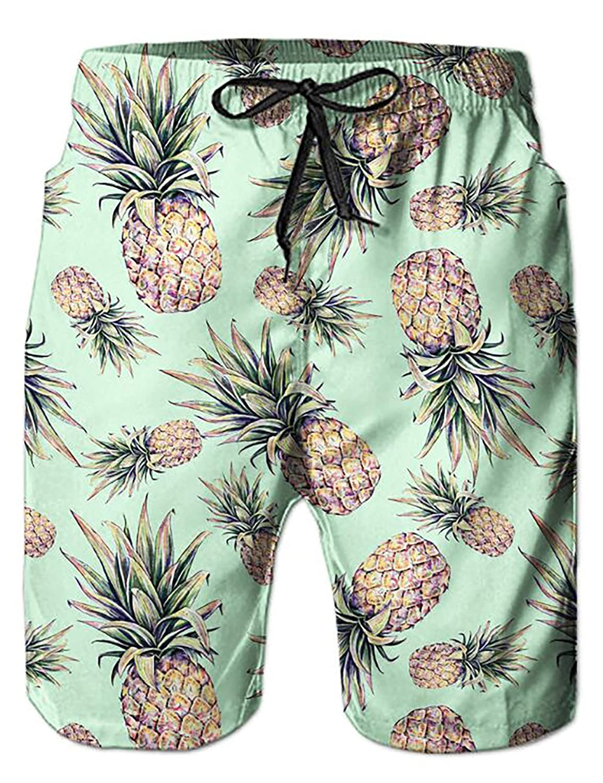 AIDEAONE Hombres Hawai Manga Corta Camisa Ropa de Playa Camisa de Botones