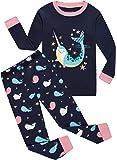 Little Girls Horse Pajamas Set Children Christmas PJs 100% Cotton Sleepwear