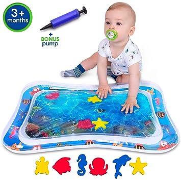 Amazon.com: Colchoneta hinchable para bebé y bebé con ...