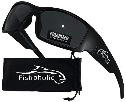 b8f4595d86eb Fishoholic Polarized Fishing Sunglasses   Free Lens Cleaning Case. 100% UV  Protection. Great