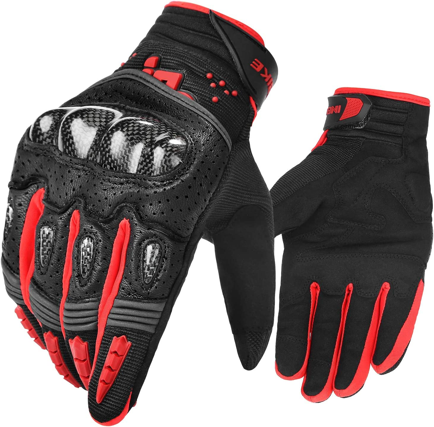 INBIKE Motorbike Gloves Leather Protection All Season Motorcycle Racing Glove IM803