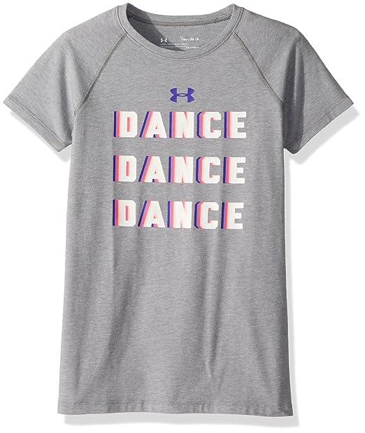 brand new a04f0 345b4 Under Armour Girls  Dance Dance T-Shirt, Steel Light Heather (035)