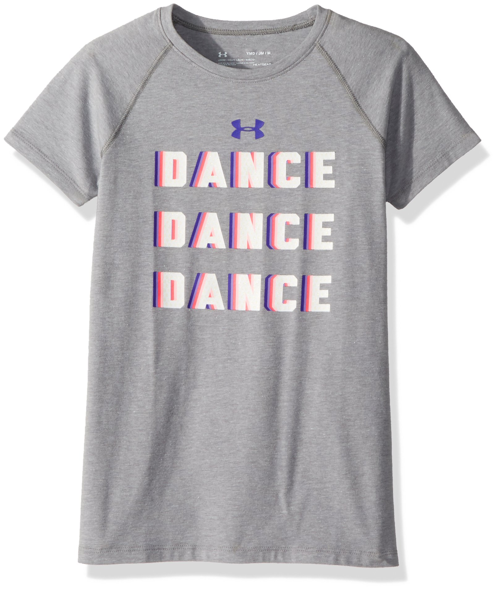Under Armour Girls' Dance Dance T-Shirt, Steel Light Heather (035), Youth Medium