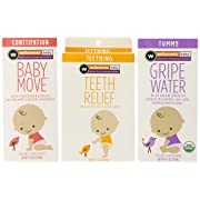 Wellements Infant Remedy Essentials 3 Pack - Baby Move for Constipation (4 Fl Oz), Baby Tooth Oil (0.5 Fl Oz), and Gripe Water for Tummy (4 Fl Oz)