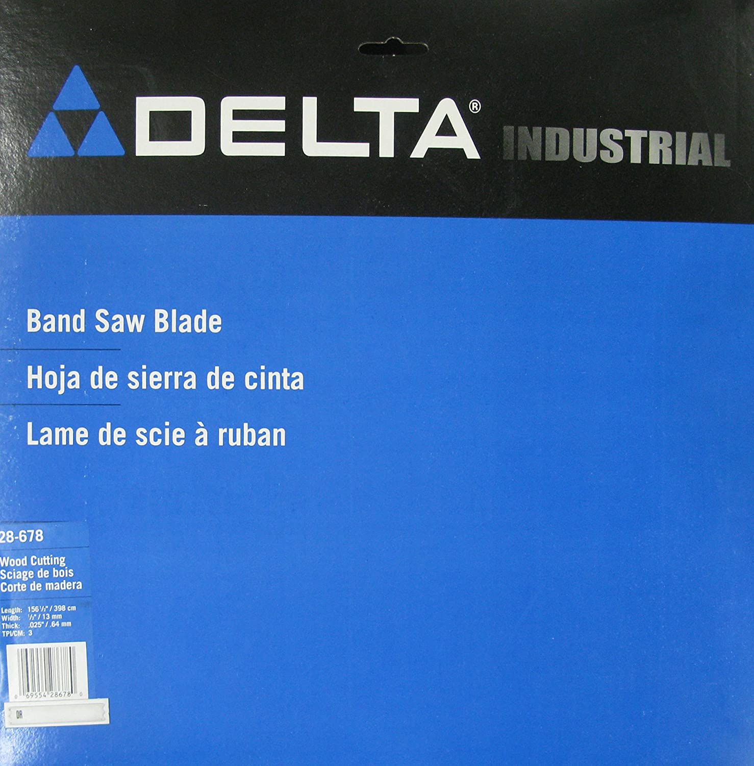 Delta 28-678 20-Inch Band Saw Blade 1/2-Inch by 156-1/2-Inch 3 TPI