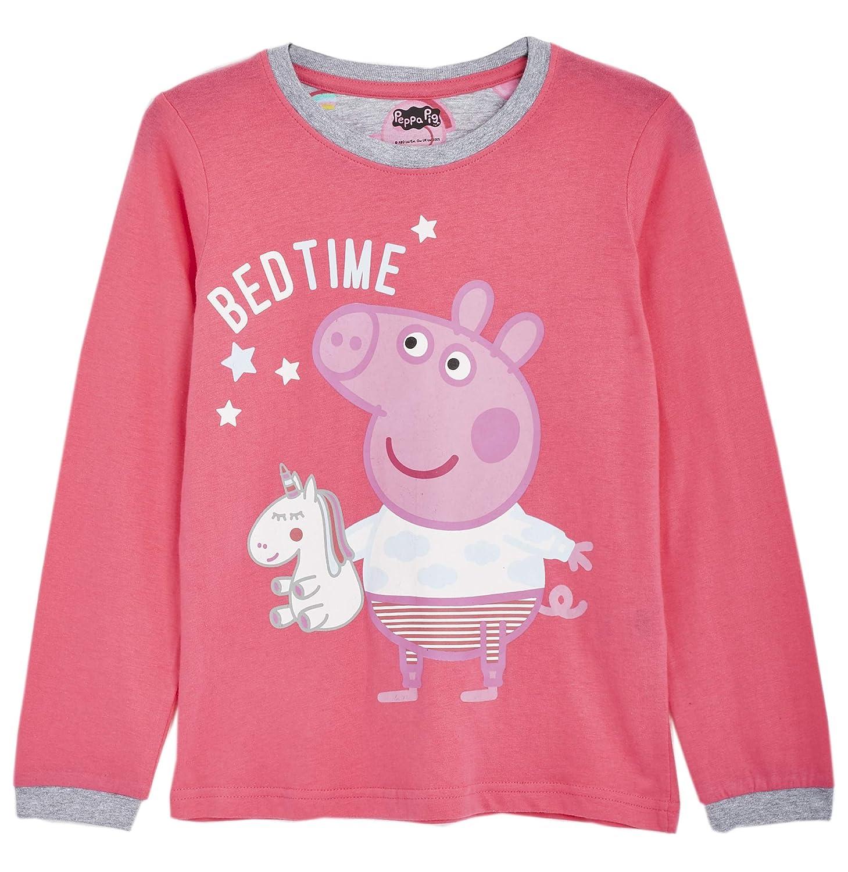 Unidea Regalo Perfetta per Tutti I Bambini Pigiama Unicorno Bambina Set di Pigiami in Morbido Cotone con Manica Lunga Pigiami Rosa 2 Pezzi Peppa Pig Pigiama per Bambina