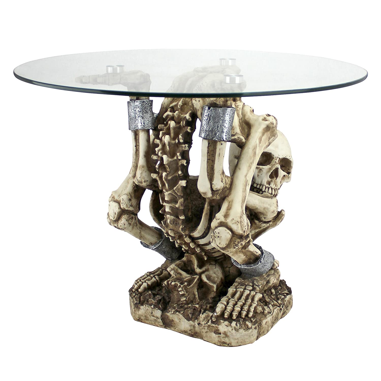 Amazon.com: Design Toscano The Contortionist Skeleton Side Table: Kitchen U0026  Dining