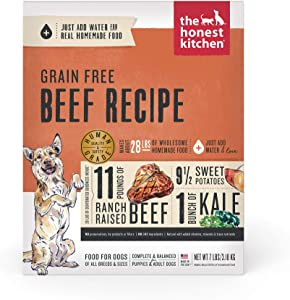 The Honest Kitchen Dehydrated Grain Free Beef Dog Food Recipe, 7 lb Box