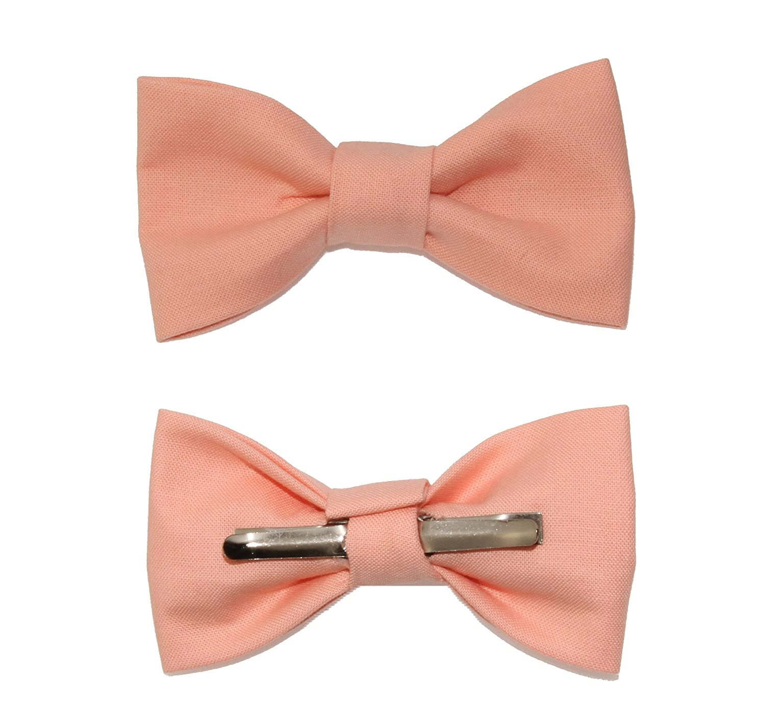 Toddler Boy 3T 4T Peach Clip On Cotton Bow Tie Bowtie by amy2004marie 110105