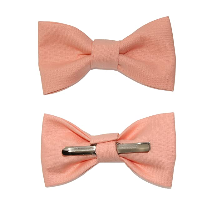 Toddler Boy 3T 4T Peach Clip On Cotton Bow Tie for Kid