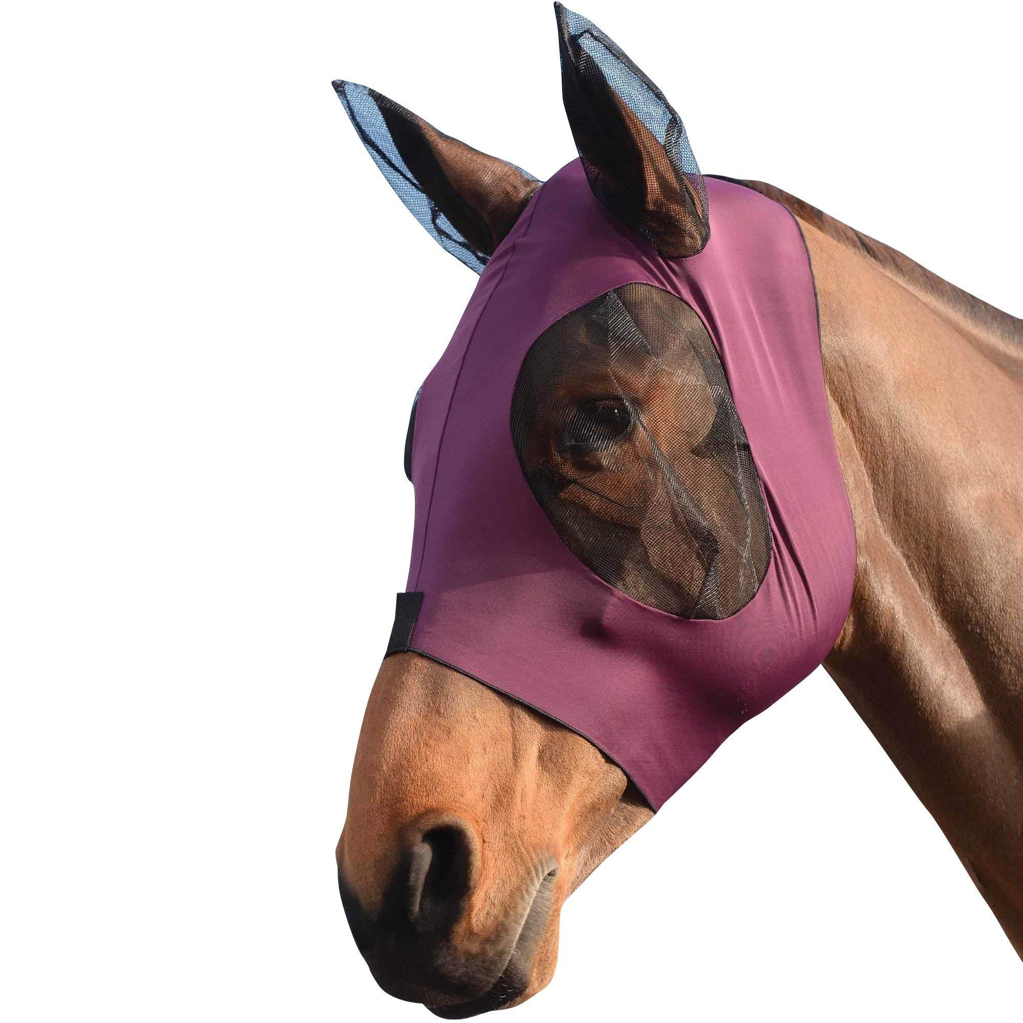 Weatherbeeta Stretch Bug Eye Saver with Ears (Pony, Purple/Black) by Weatherbeeta