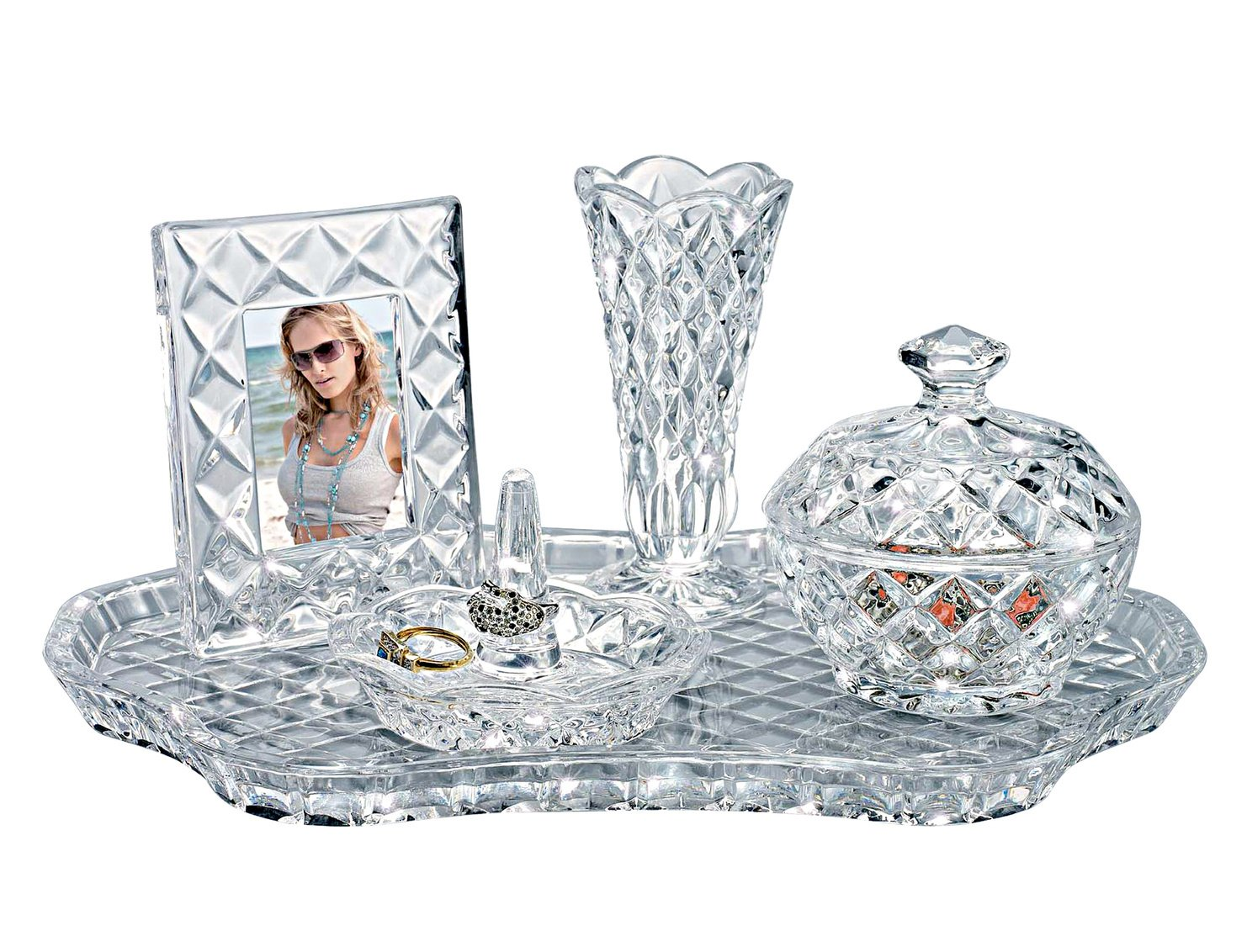 Shannon Crystal Vanity Set by Godinger 2685