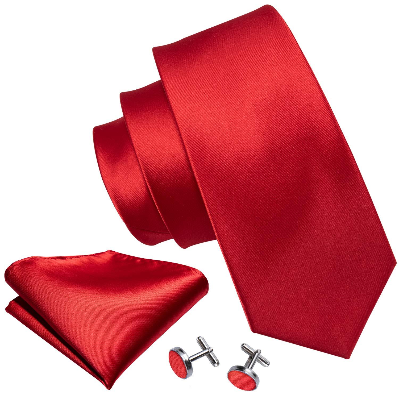 Handkerchief Cufflinks Necktie Set