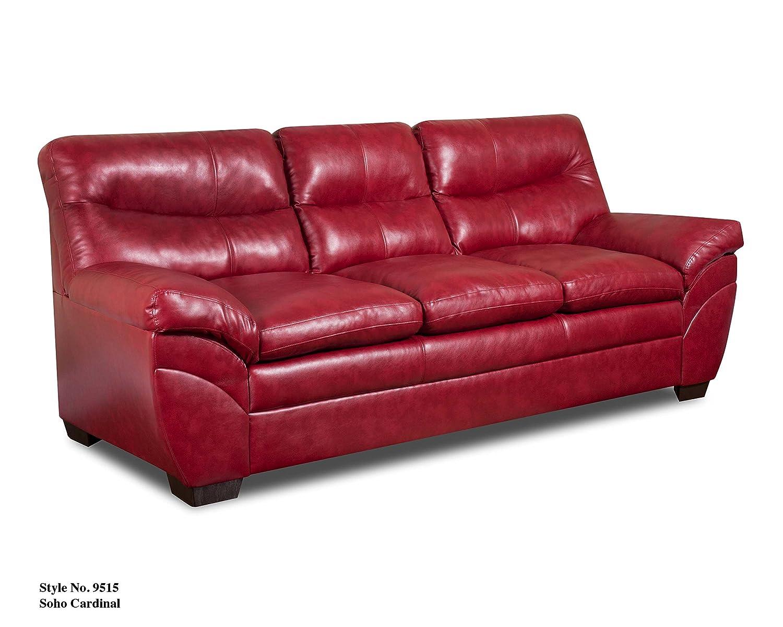 Amazon.com: Simmons Upholstery Soho Bonded Leather Sofa: Kitchen ...