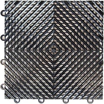1-12x12 Tile, Coin Gunmetal IncStores Nitro Garage Tiles 12x12 Interlocking Garage Flooring