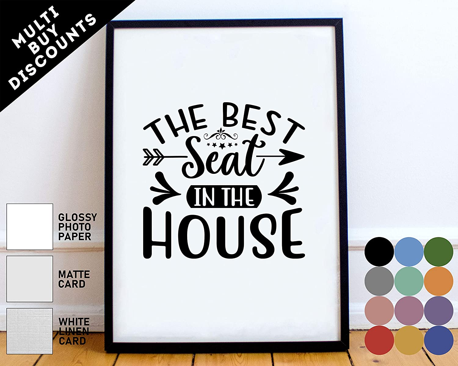 Unframed Bathroom Art Print The Best Seat In The House Bathroom Poster Bathroom Signs Funny Bathroom Artwork Bathroom Quote Print Bathroom Humor