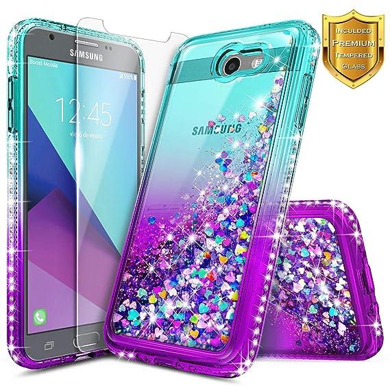 size 40 1d60b 87928 Galaxy J3 Luna Pro Case, J3 Emerge/J3 Prime/J3 Eclipse/J3 Mission/J3  2017/Sol 2/Amp Prime 2/Express Prime 2 w/[Tempered Glass Screen Protector],  ...