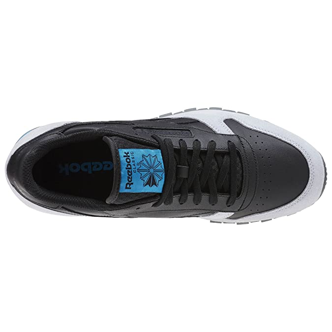 e305c5c01bb Reebok Classic Leather GN Black Cloud Grey Alloy Caribbean Teal BD4414   Amazon.co.uk  Shoes   Bags