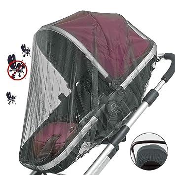 7eb9459e52 vitutech Universal Insektenschutz, Mückennetz für Kinderwagen & Buggy,  feinmaschiges Moskitonetz reißfest & waschbar idealer