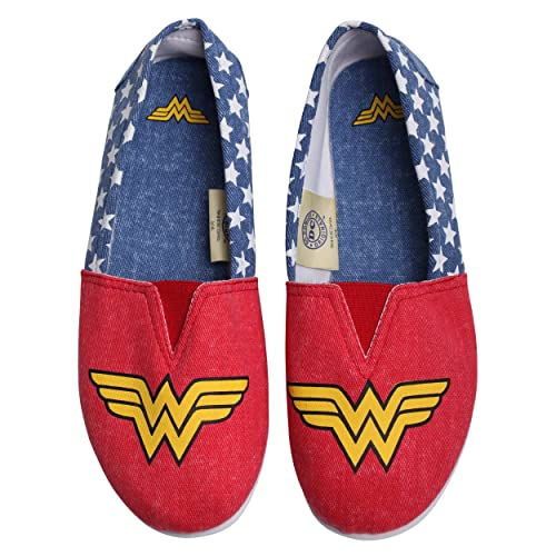 Rosso Da Wonder Comics Woman Donna Super Scarpe Eroe Dc Ballerine On Slip Supereroe xCSqvw7