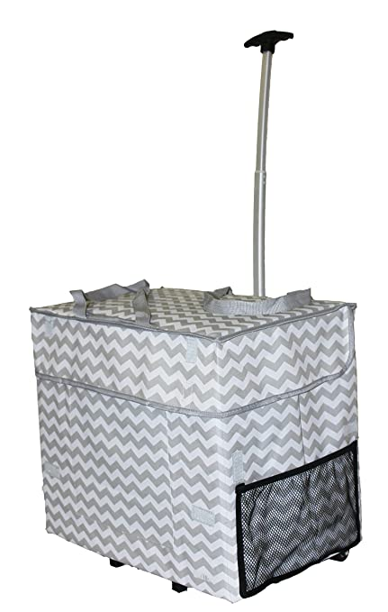 Black  Rolling Multipurpose Collapsible Basket Cart Scrapbooking Laundry dbest products Wide Load Smart Cart