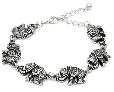 hsn products d elephant bracelet adjustable technibond