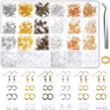 Earring Hooks, Anezus 1900Pcs Earring Making Supplies Kit with Fish Hook Earrings, Earring Backs, Jump Rings for Jewelry Making and Earring Repair (Assorted Colors)