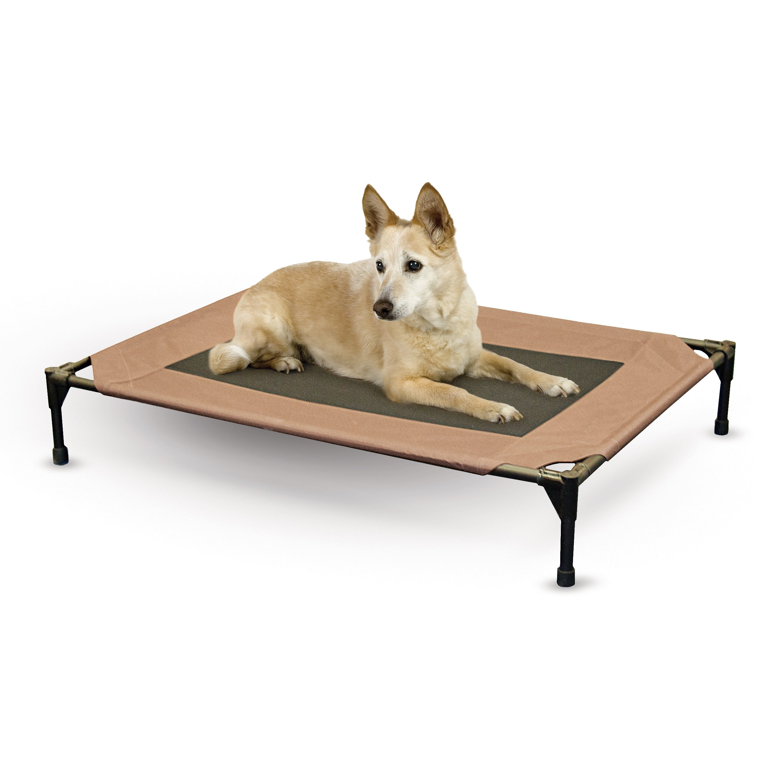 K&H Pet Products Original Pet Cot Elevated Pet Bed Large Chocolate/Mesh 30'' x 42'' x 7''